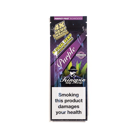 KINGPIN HEMP WRAP - GRAPE 4x NO TOBACCO