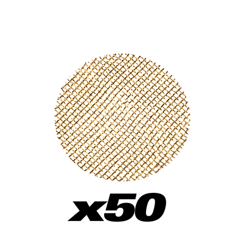 50 PACK - BRASS PIPE SCREENS