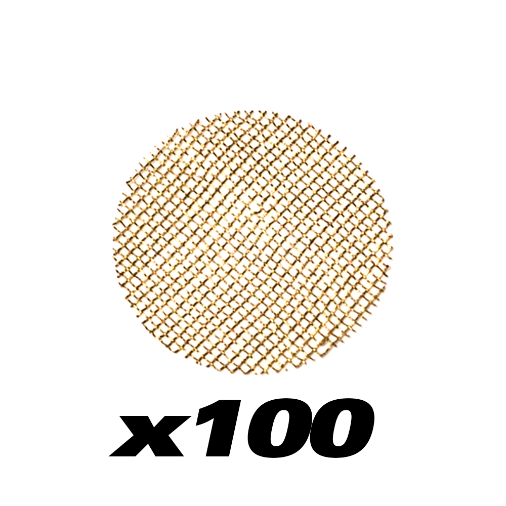100 PACK - BRASS PIPE SCREENS