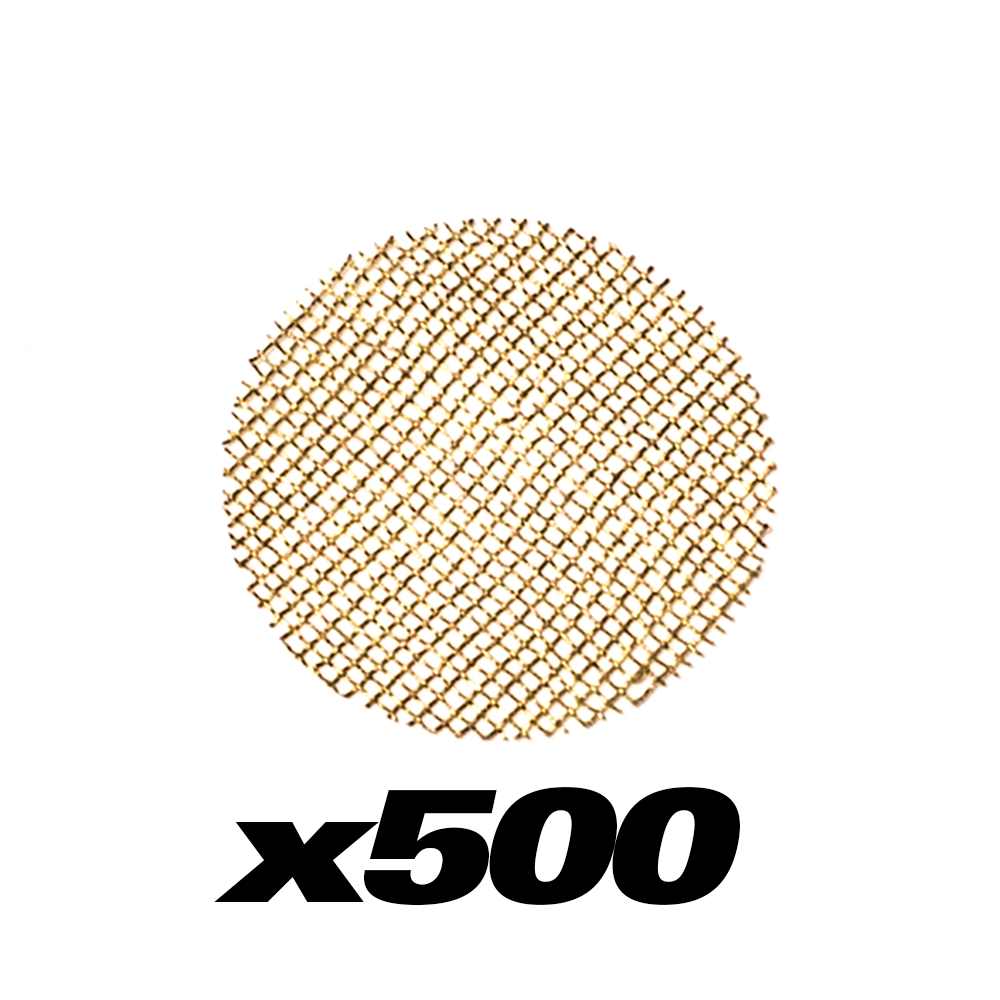500 PACK - BRASS PIPE SCREENS