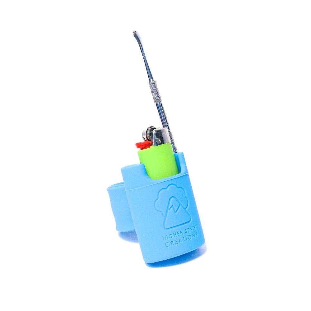 HSC SLAPPACK SILICONE LIGHTER HOLSTER PALE BLUE