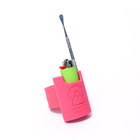 HSC SLAPPACK SILICONE LIGHTER HOLSTER PINK