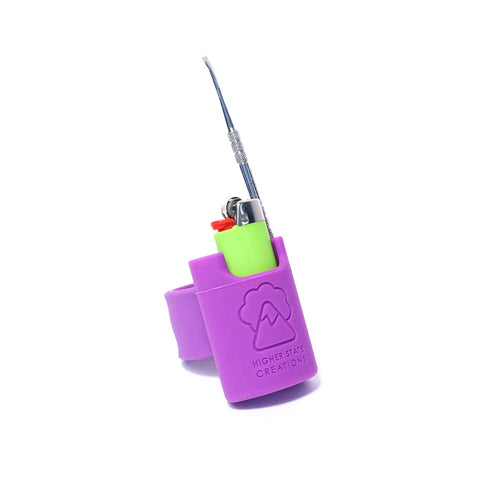 HSC SLAPPACK SILICONE LIGHTER HOLSTER PURPLE