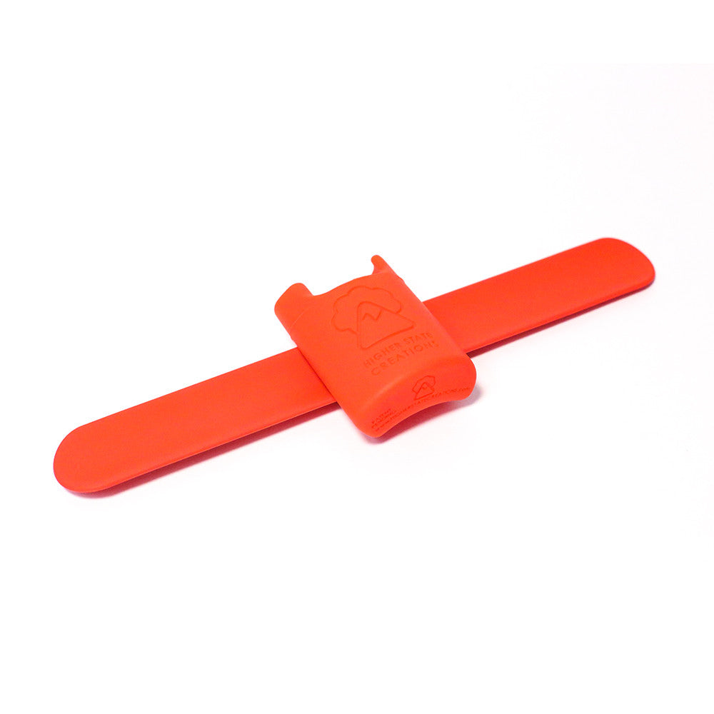 HSC SLAPPACK SILICONE LIGHTER HOLSTER RED