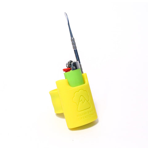 HSC SLAPPACK SILICONE LIGHTER HOLSTER YELLOW