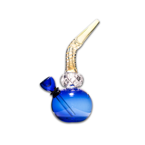 DIAMOND BLUE - GLASS BUBBLER BONG