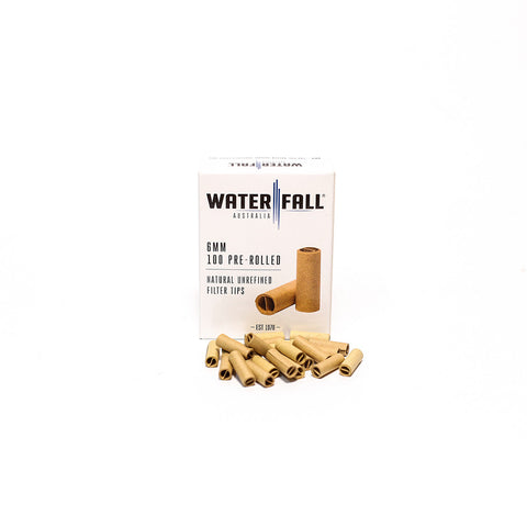 WATERFALL 6mm PRE-ROLLED TIPS - BOX OF 100