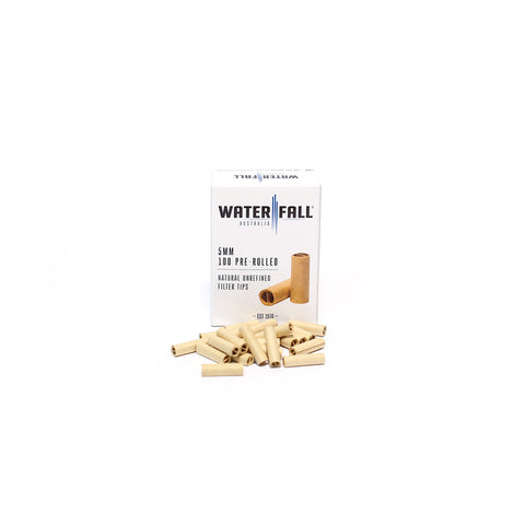 WATERFALL 5mm PRE-ROLLED TIPS - BOX OF 100