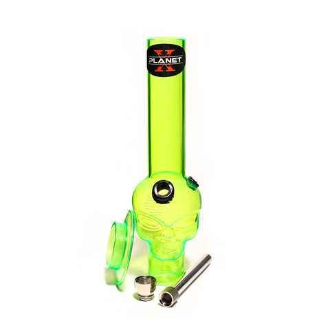 PLANET X ALIEN LEADER GREEN ACRYLIC MINI BONG