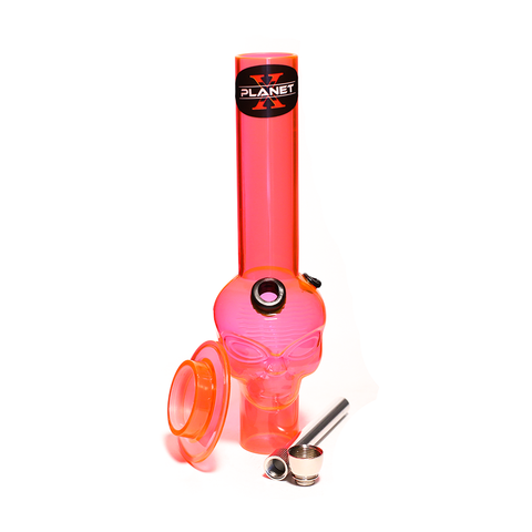 PLANET X ALIEN LEADER PINK ACRYLIC MINI BONG