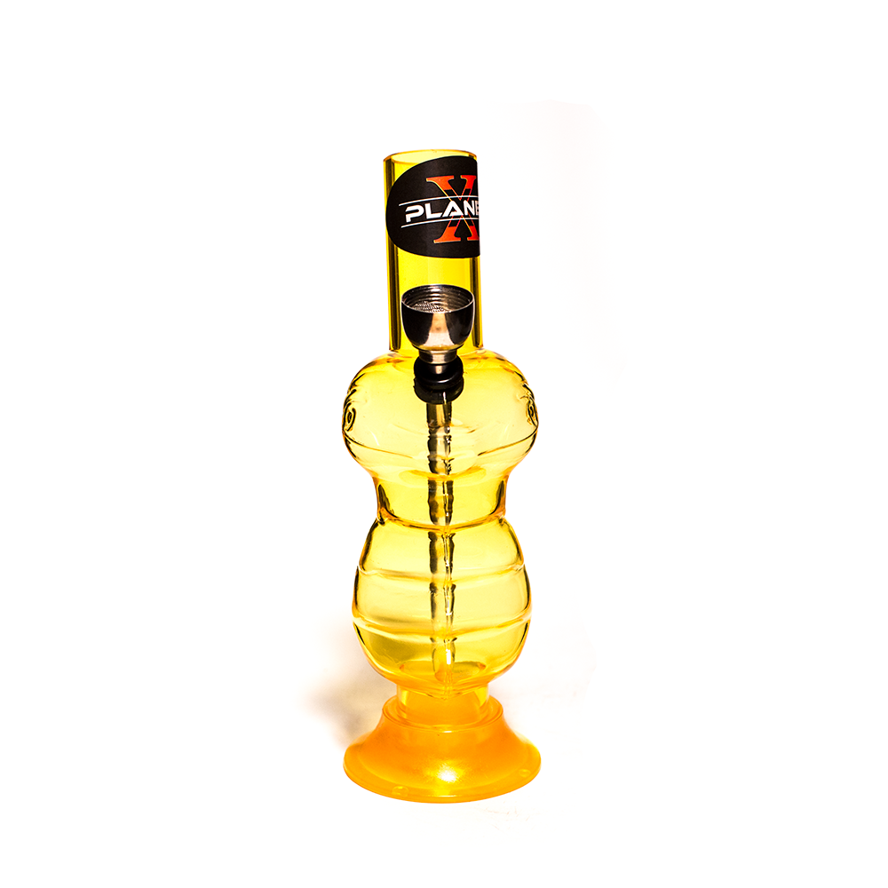 PLANET X REPTILIAN OVERLORD MINI YELLOW ACRYLIC BONG