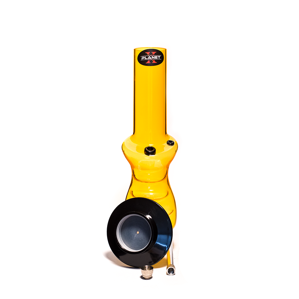 PLANET X CONTROL STICK YELLOW ACRYLIC BONG