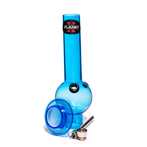 PLANET X THE ZORD BLUE ACRYLIC MINI BONG