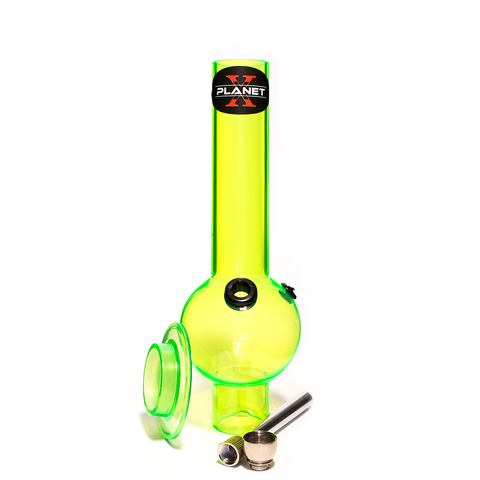 PLANET X THE ZORD GREEN ACRYLIC BONG