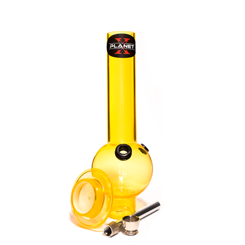 PLANET X THE ZORD YELLOW ACRYLIC BONG