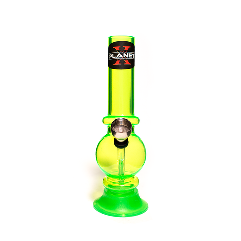 PLANET X MINI ZION GREEN ACRYLIC BONG