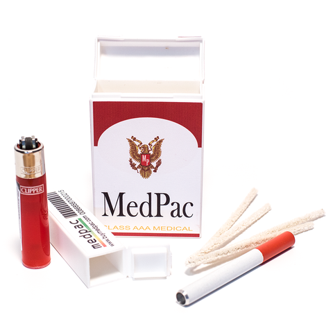 MEDPAC STASH KIT & CONTAINER (RED & WHITE)