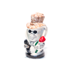 SLASH SKULL BROWN CERAMIC BONG