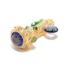PIPE - GLASS DRY TENTACLE WITH ROUND TAB VARIOUS COLOURS