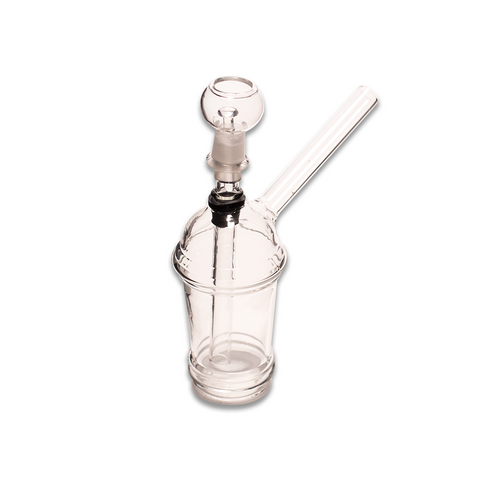 GLASS BONG - OIL BURNER SLURPEE 18CM H WITH DAB RIG AND PULL CONE