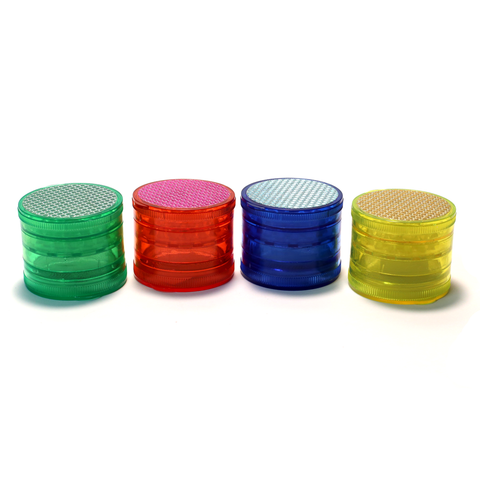 GRINDER - ACRYLIC 60mm D X 50mm 5 PART COLOURED MAGNETIC CENTRE