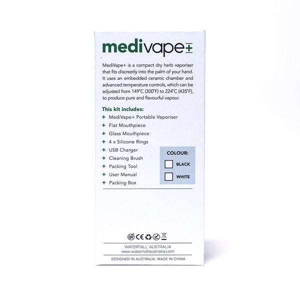 VAPORISER - MEDIVAPE PLUS WHITE by WATERFALL