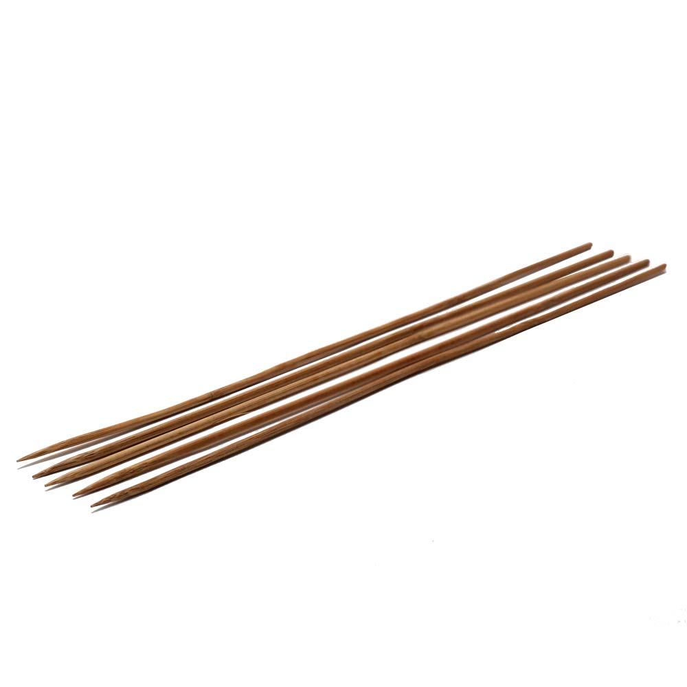 5 PACK OF 30cm X 3mm WOODEN SKEWERS