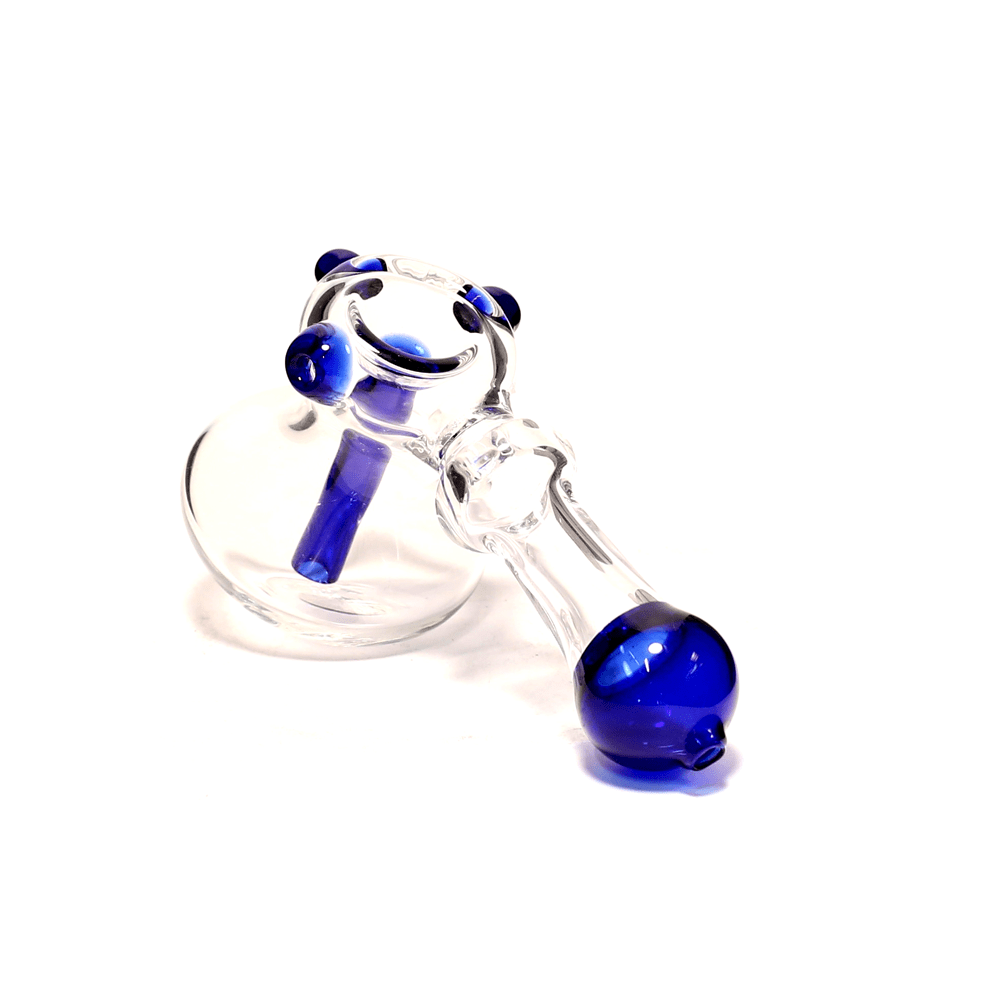 BLUE TIP GLASS HAMMER PIPE - SML