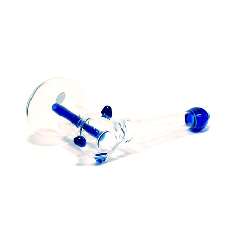 BLUE TIP GLASS HAMMER PIPE - LGE