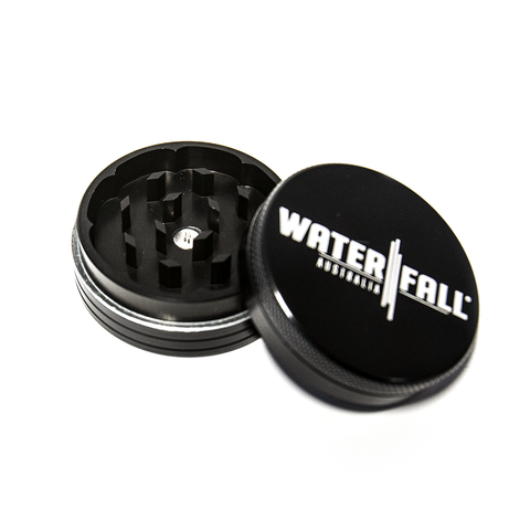 WATERFALL - 75mm CNC 2 PART GRINDER - BLACK