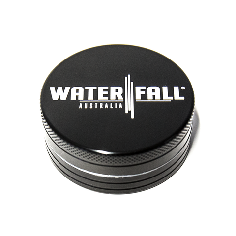 WATERFALL - 90mm CNC 2 PART GRINDER - BLACK