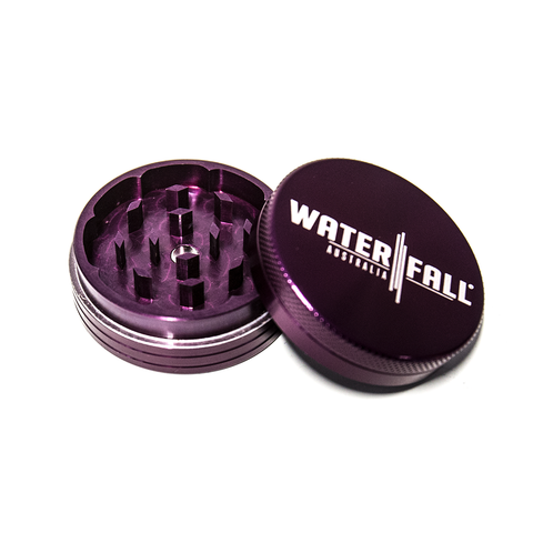 WATERFALL - 90mm CNC 2 PART GRINDER - PURPLE