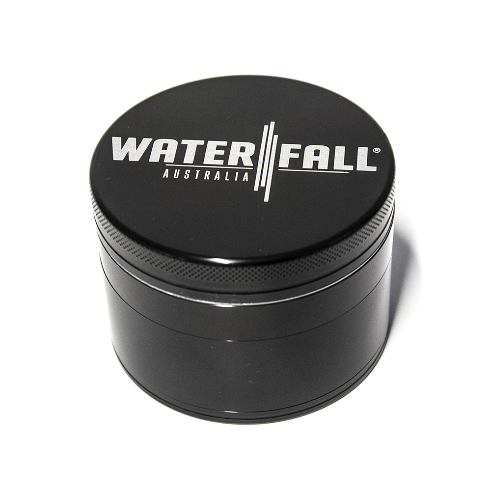 WATERFALL - CNC BLACK 4 PART 75MM GRINDER - BLACK