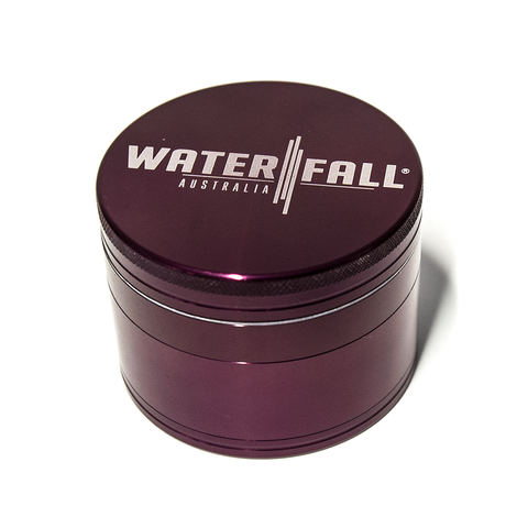 WATERFALL - CNC 4 PART 50MM GRINDER W/ REMOVABLE SCREEN - PURPLE