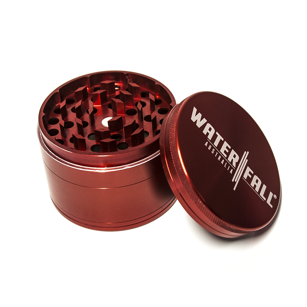 WATERFALL - CNC 4 PART 75MM GRINDER - RED