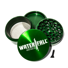 WATERFALL - CNC 4 PART 90MM GRINDER - DARK GREEN