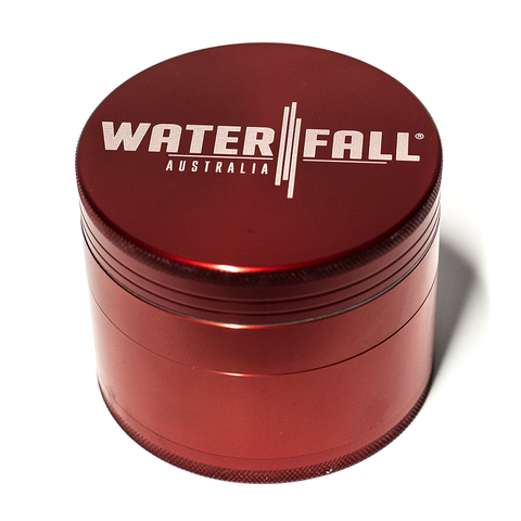WATERFALL - CNC 4 PART 90MM GRINDER - RED