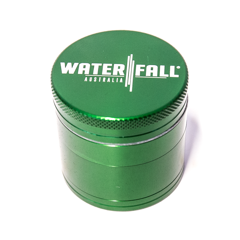 WATERFALL - CNC 4 PART 40MM GRINDER W/REMOVABLE SCREEN - DARK GREEN