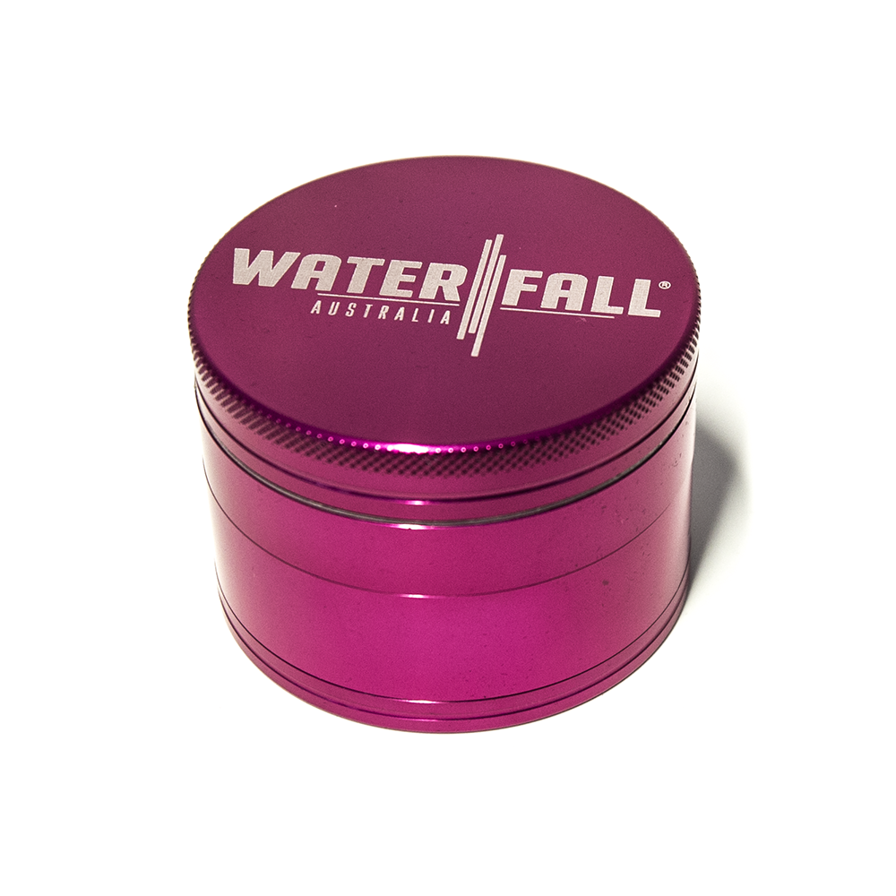 WATERFALL - CNC4 PART 63MM GRINDER W/ REMOVABLE SCREEN - PINK