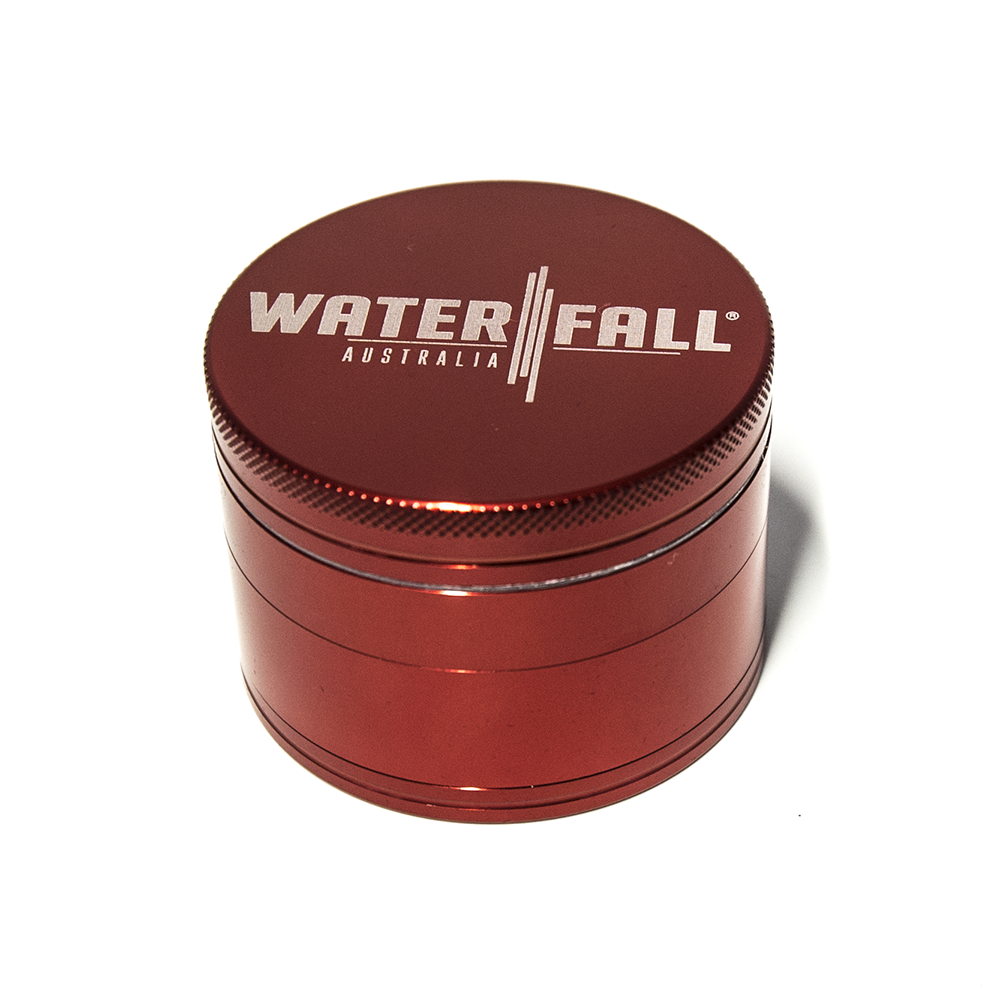 WATERFALL - CNC 4 PART 63MM GRINDER W/ REMOVABLE SCREEN - RED