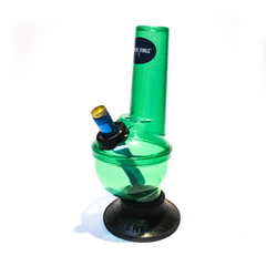 WATERFALL - PULSAR GREEN BONZA ACRYLIC BONG WITH RUBBER BASE