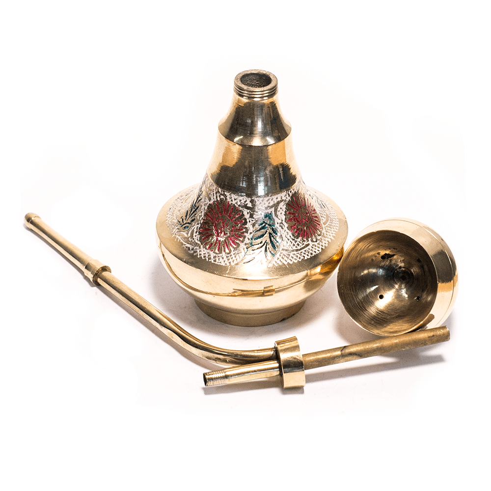 MEDIUM BRASS HOOKAH BONG 24cm