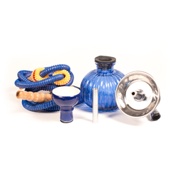 SMALL 2-HOSE HOOKAH - WATERMELON BASE - BLUE