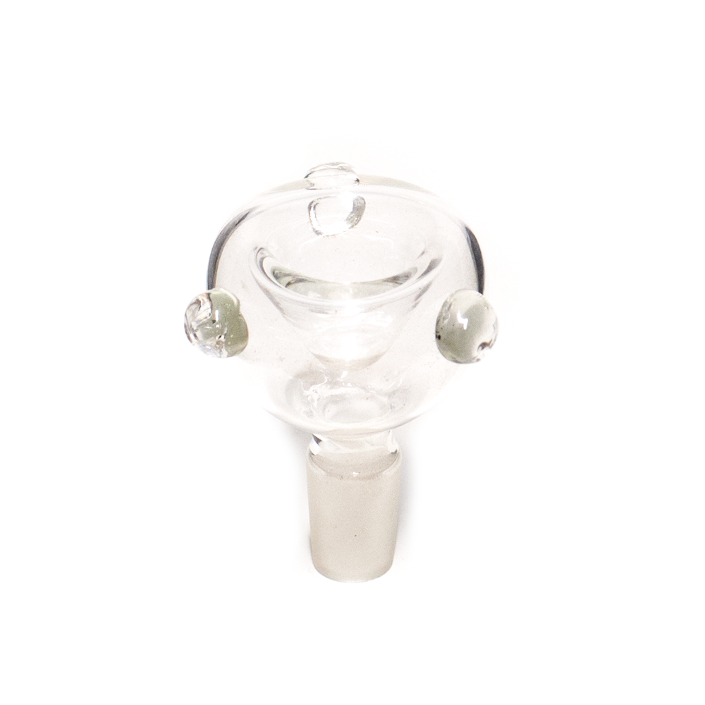 CLEAR GLASS HOLLOW CONE - 14MM