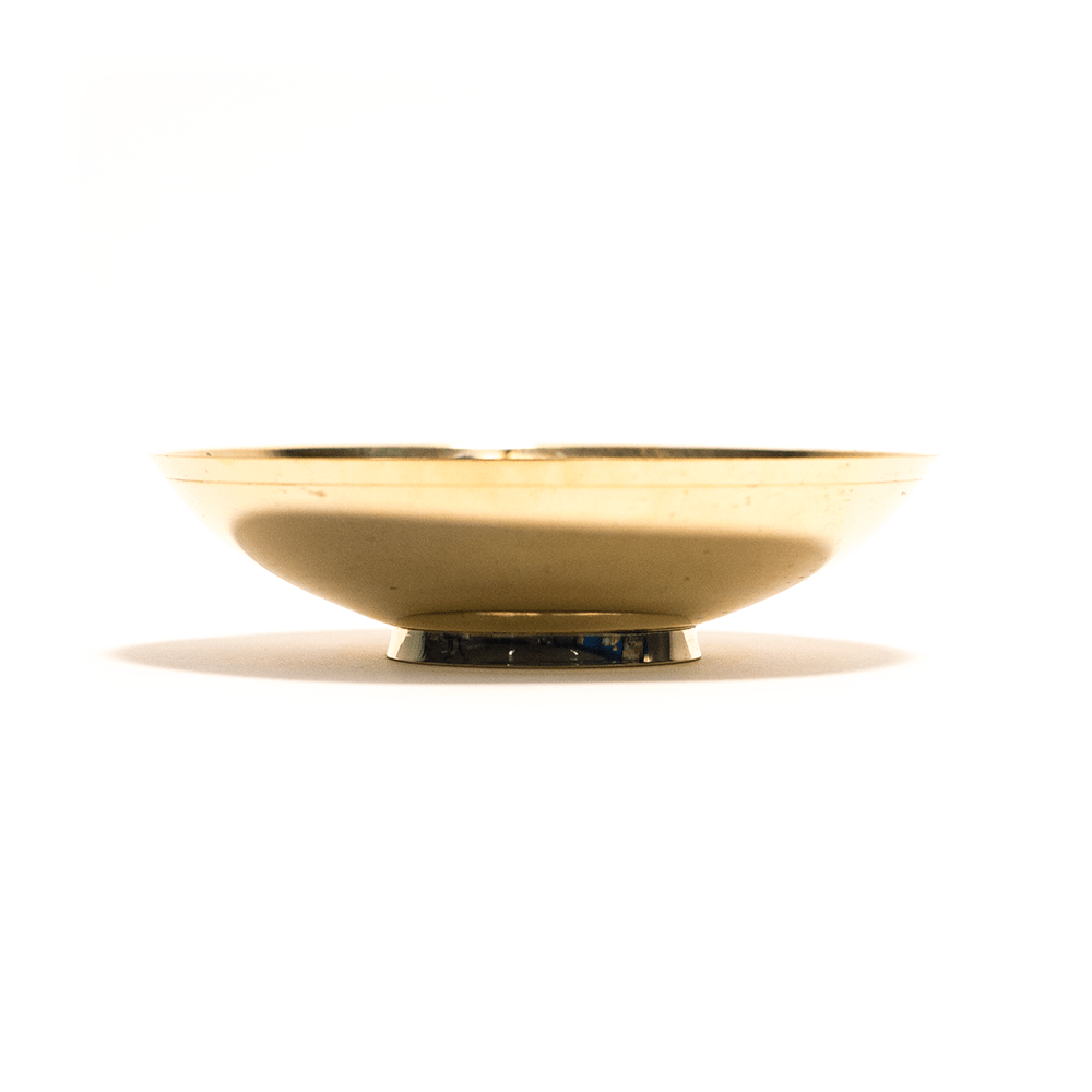 BRASS BOWL - WEED LEAF 13CM