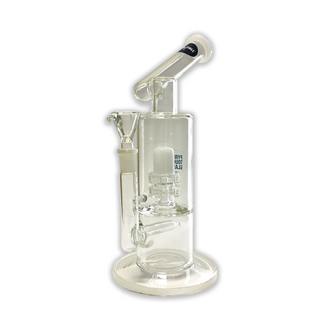 WATERFALL - SCOPE NECK DOME PERC - GLASS BONG - WHITE