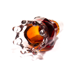 GLASS CONE - XL SKULL WITH CROWN 14MM AMBER