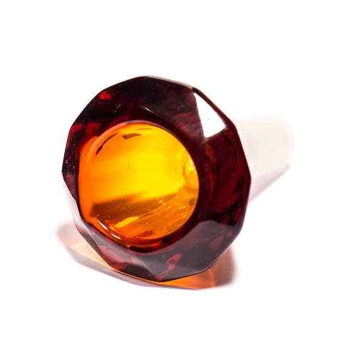 GLASS CONE - DIAMOND 14MM AMBER