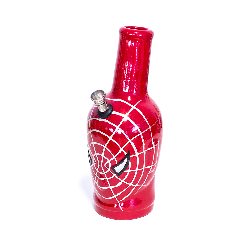 CERAMIC BONG - RED SPIDER WEB MASK