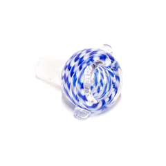 GLASS CONE - DARK BLUE & WHITE SWIRLS - 14MM